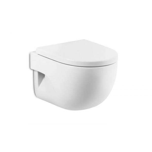 Meridian compact asiento de inodoro coysa online for Inodoro suspendido roca meridian