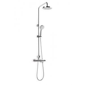 Victoria-T cromo columna de baño y ducha termostática
