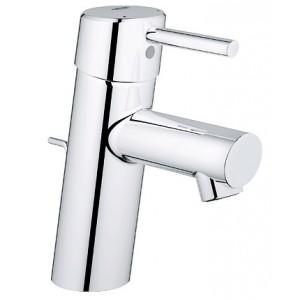 Concetto grifo lavabo monomando vaciador automático